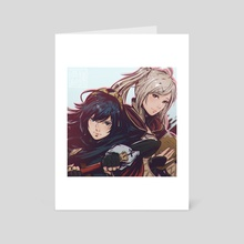 Lucina and Robin - Art Card by Koyori