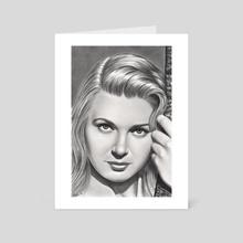 Play it like Bergman  - Art Card by Aurelia Chaintreuil
