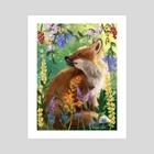 fox // - Art Print by Emme Srinivas