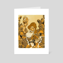 The Bitcoin Miner - Art Card by Andrew DeGraff