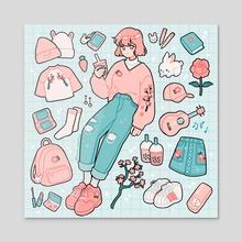 pink - Acrylic by fresh_bobatae