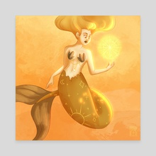 Mermay 22 Mimosa - Canvas by Marion Bartier