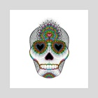 Skull Love - Art Print by Luna Portnoi