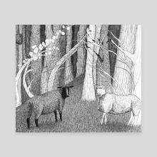 Sheep - Canvas by Galeria Ginkgo