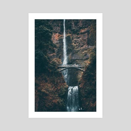 Multnomah Falls in Autumn by john cousart