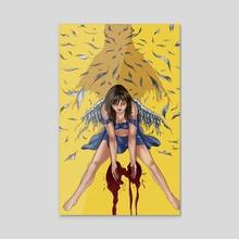 Broken wings - Acrylic by    Flocco