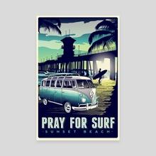 pray for surf - Canvas by matt schnepf