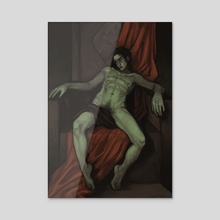the dark throne - Acrylic by Felicia Wahlström