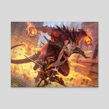 MtG - Mayhem Devil - Acrylic by Dmitry Burmak