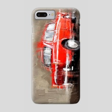 Red Classic Car - Phone Case by Samsudin Ismail