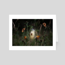 Butterfly fairy - Art Card by Christina Groth-Biswas