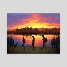 Sunset  - Canvas by Hannah Agosta