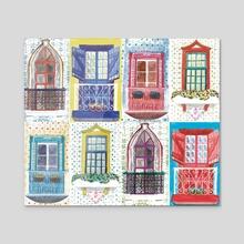 city windows - Acrylic by Catarina Ferreira