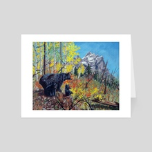 Yellowstone Bears - Art Card by Mark Green