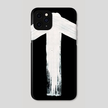 Younger Futhark Rune 12 Tyr Inverted - Phone Case by Wetdryvac WDV
