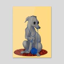 Yarnhound  - Acrylic by Taylor  Poppy