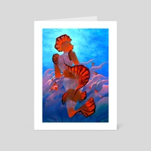clownfish mermaid - Art Card by Caitlin Soliman