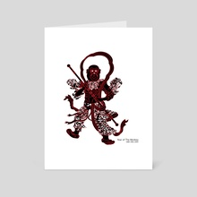 Chinese zodiac sign, Year of the Monkey - Art Card by YaeJun KIM