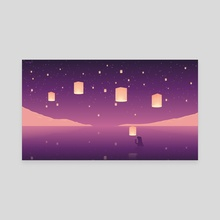 Lanterns - Canvas by Ley Yanna