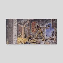 Beowulf - Grendel - Acrylic by Chuck Grieb