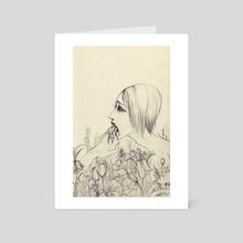 Flowerbed - Art Card by Lily Pfaff
