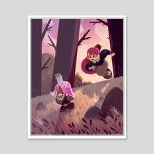 Hey yo Gnome! YO! Gimme back my potion! It doesn't even taste good! - Acrylic by Teo Skaffa