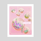 Encouraging Succulents - Art Print by Nyx