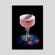 Clover Club (Classic Cocktails Season #1) - Canvas by Anna Suslina