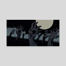 Zombies - Canvas by Robert Sammelin