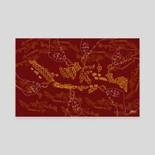 Indonesia in batik - Canvas by Dede