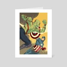 Drax vs Cap - Art Card by Jai Kamat
