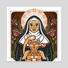 St. Gertrude - Canvas by Anuradha Grover