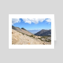 Towards Owens Valley - Photography Fine Art Print for Sale - Art Card by Buuck Photography