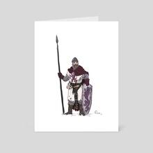 Leonese Knight / Caballero Leonés - Art Card by Ricardo Escobar