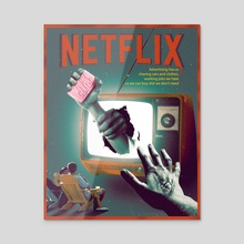 Fight Club ft. Netflix - Acrylic by Prashanth C