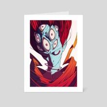 ten eyes - Art Card by omgidraw