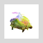World Tortoise - Art Print by Carly A-F