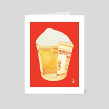 Cup Ramen - Art Card by Sarah Gonzales