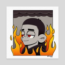 This Is Fine - Canvas by Frawgsy
