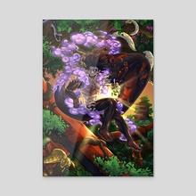 Luffy the God Snake - Acrylic by Satsu