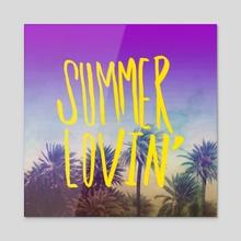 Summer Lovin - Acrylic by Leah Flores
