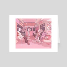 The Commute - Art Card by Paskalina Kinanthi