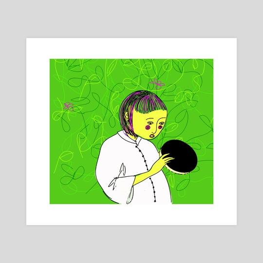 Tambourine cookie girl by Theresia Christou-Kavyri