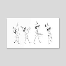 Marching Band - Acrylic by Toshiki Nakamura