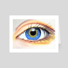 Blue and Orange Eye - Art Card by Kevin Houlihan