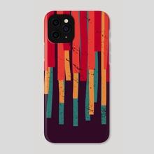 Squared Stripes (original colors) - Phone Case by Michele Ficeli