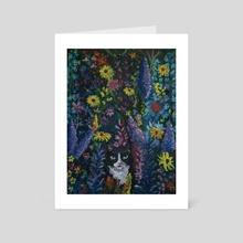 Lucy's Midnight Garden - Art Card by Naomi