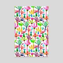 Palms Tropical Colorful Garden - Canvas by Ninola Design