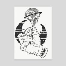 Zombie hand  - Canvas by Slavik  Kondratenko