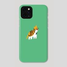 Green Tiger - Phone Case by Papa Ferrari